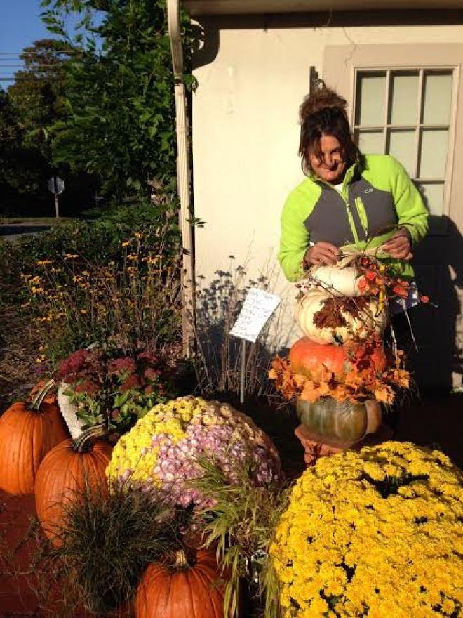 Anne Marie's Pumpkin Stack  #MatlackFlorist